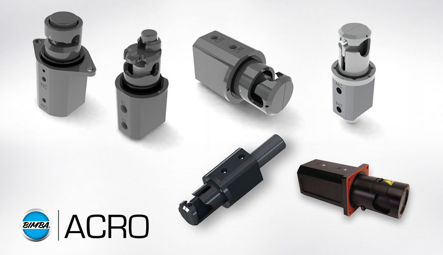 Bimba acro model series pneumatic pinch valves
