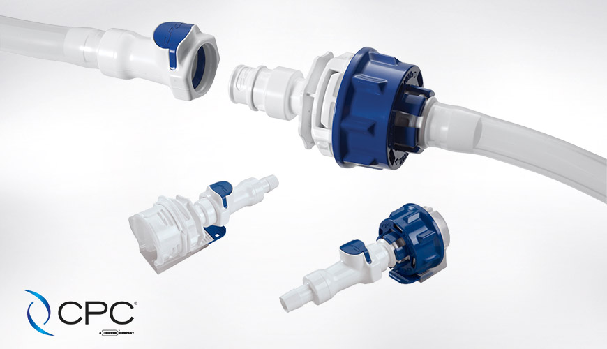 Colder Products AseptiQuik DC, connector for both sterile connection AND sterile disconnection